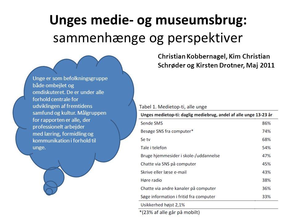 Unges medie- og museumsbrug: sammenhænge og perspektiver