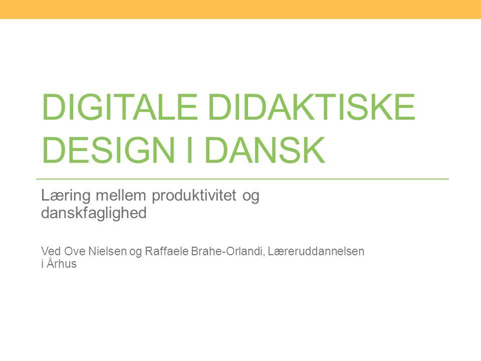 Digitale didaktiske design i dansk