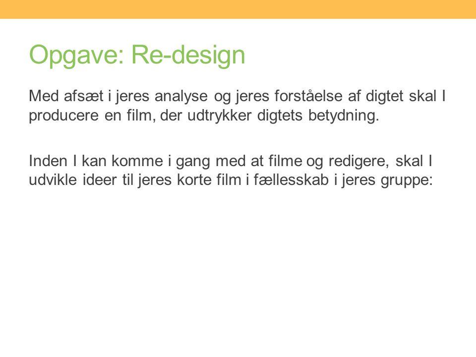 Opgave: Re-design