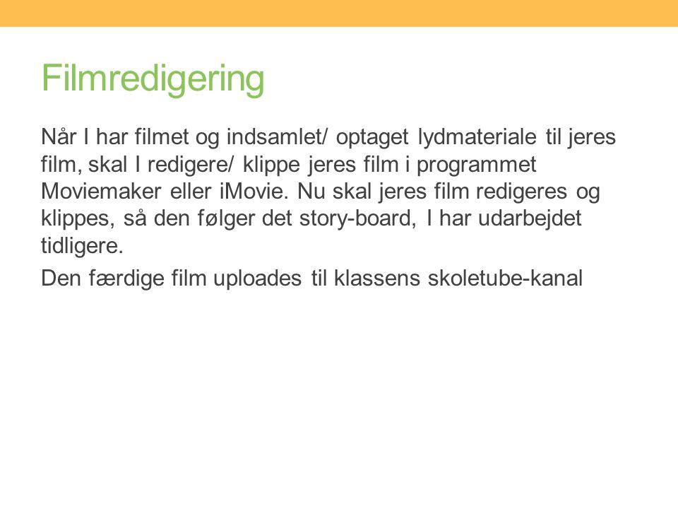 Filmredigering