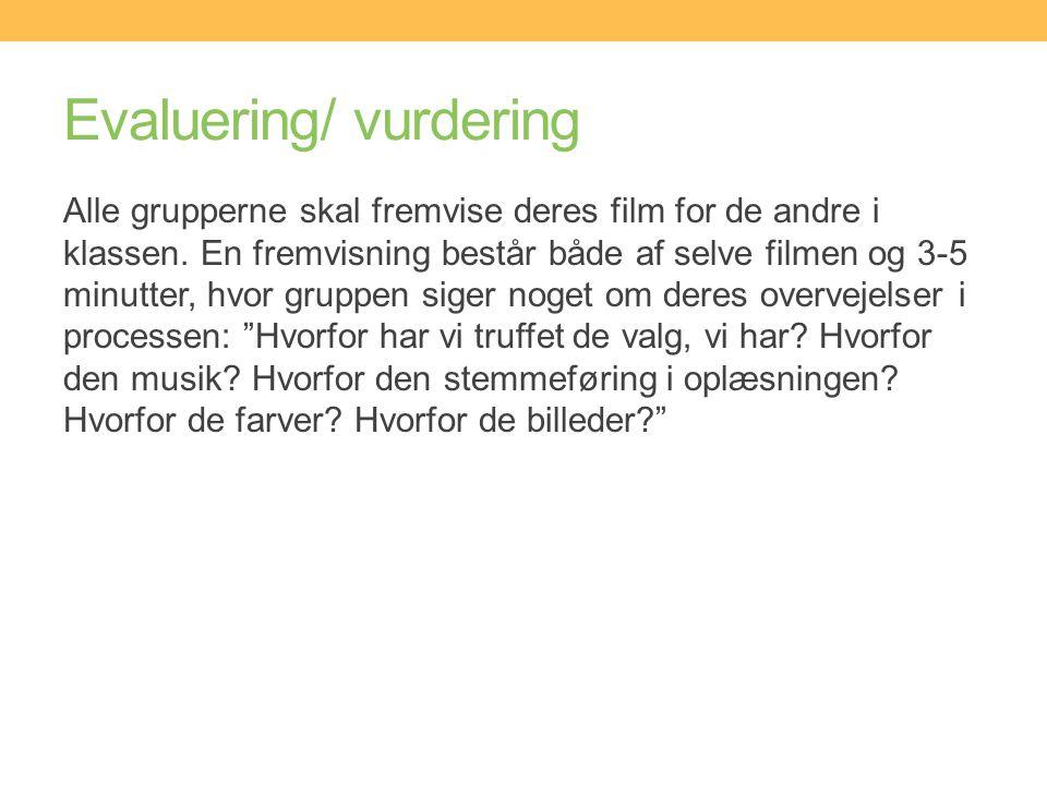 Evaluering/ vurdering