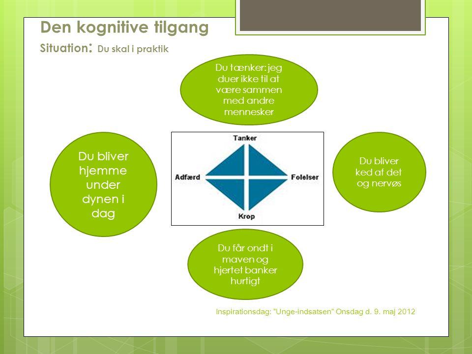 Den kognitive tilgang Situation: Du skal i praktik