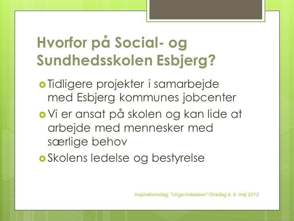 Hvorfor på Social- og Sundhedsskolen Esbjerg