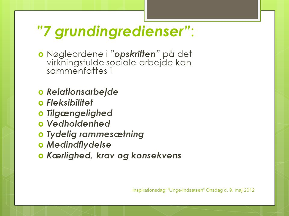 7 grundingredienser :