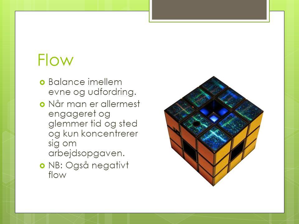Flow Balance imellem evne og udfordring.