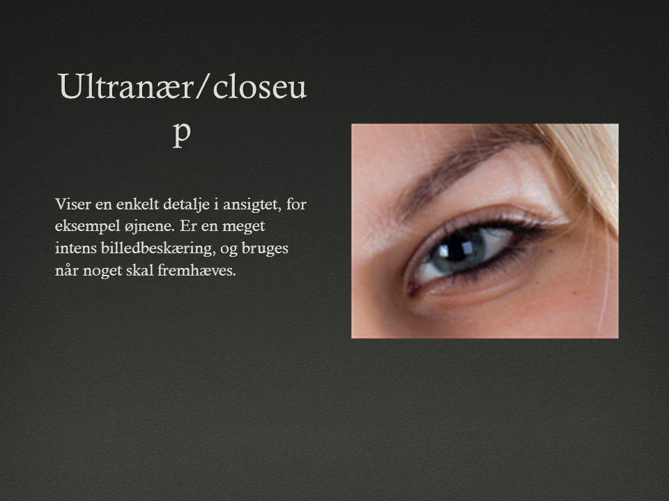 Ultranær/closeup Viser en enkelt detalje i ansigtet, for eksempel øjnene.