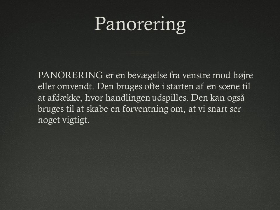 Panorering