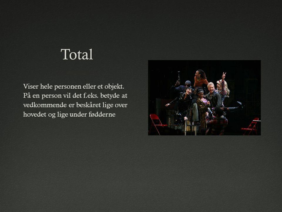 Total Viser hele personen eller et objekt. På en person vil det f.eks.