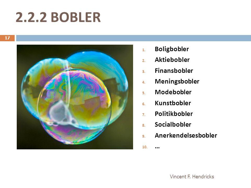 2.2.2 BOBLER BOLIGBOBLER MENINGSBOBLER Boligbobler Aktiebobler