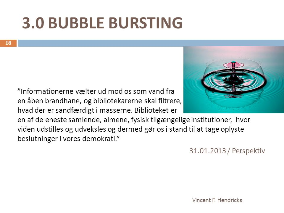 3.0 BUBBLE BURSTING