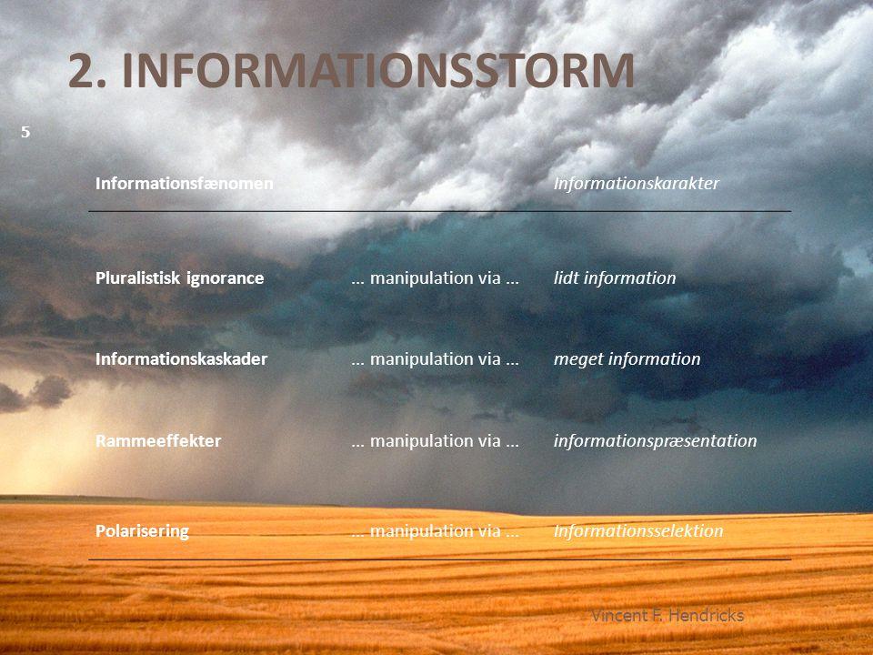 2. INFORMATIONSSTORM Informationsfænomen Informationskarakter
