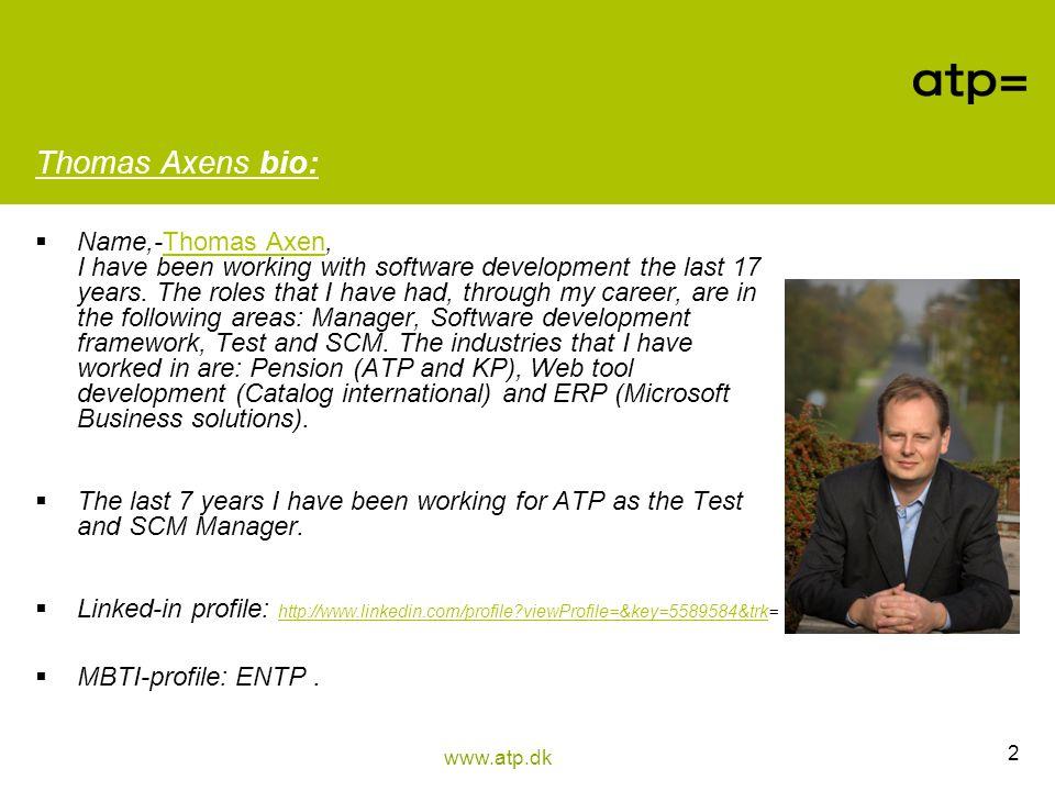Thomas Axens bio: