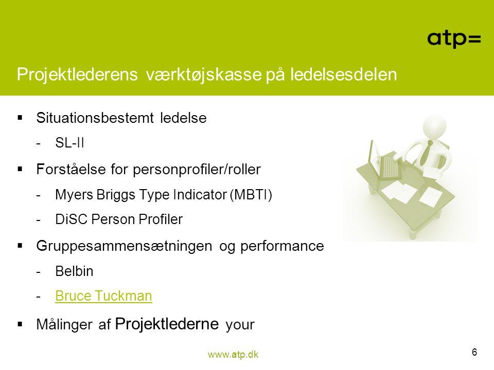 Projektlederens værktøjskasse på ledelsesdelen