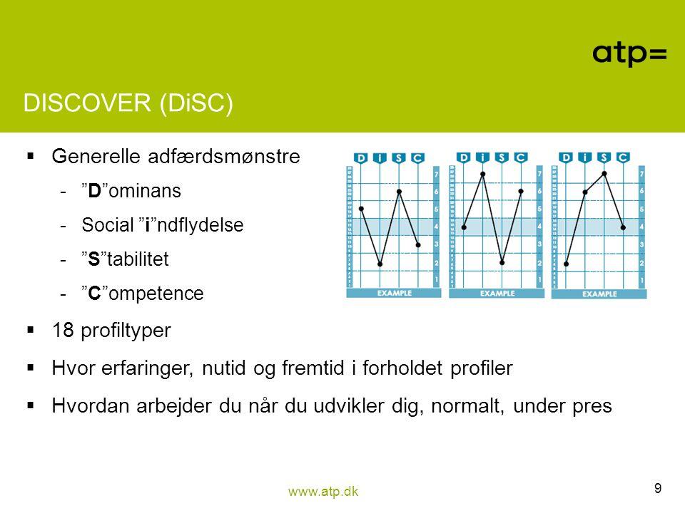 DISCOVER (DiSC) Generelle adfærdsmønstre 18 profiltyper