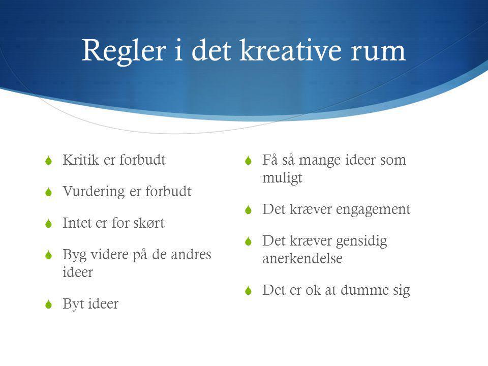 Regler i det kreative rum