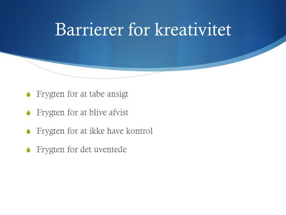 Barrierer for kreativitet