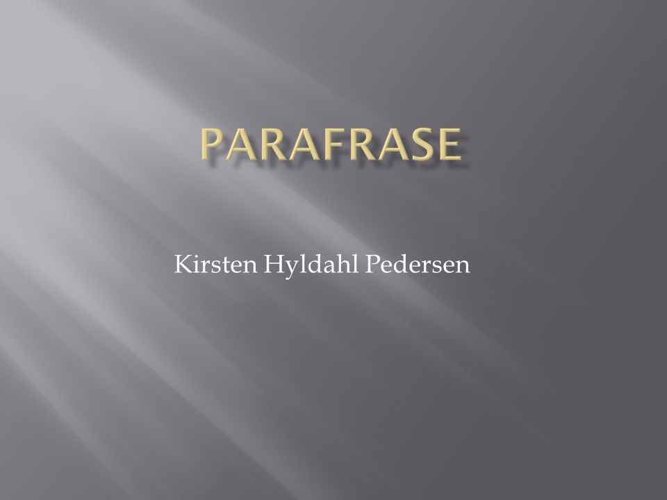 Kirsten Hyldahl Pedersen