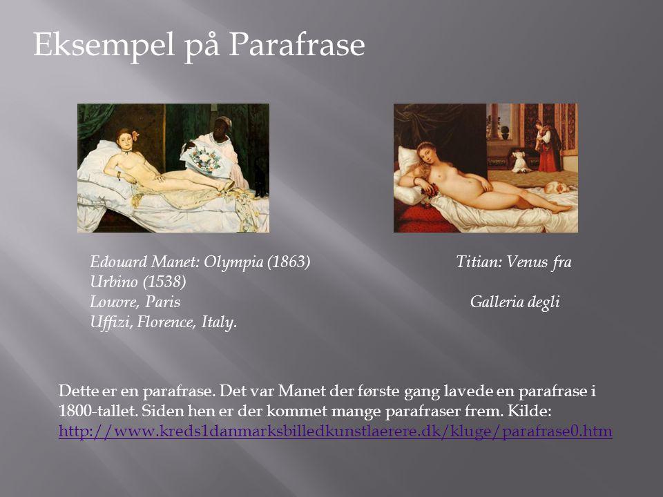 Eksempel på Parafrase