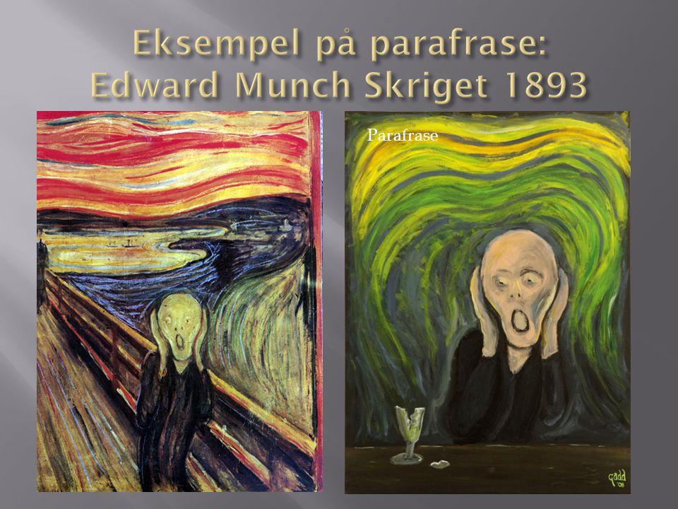 Eksempel på parafrase: Edward Munch Skriget 1893