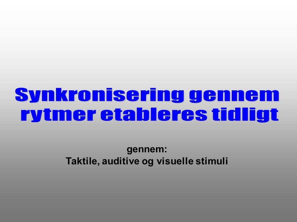 Taktile, auditive og visuelle stimuli