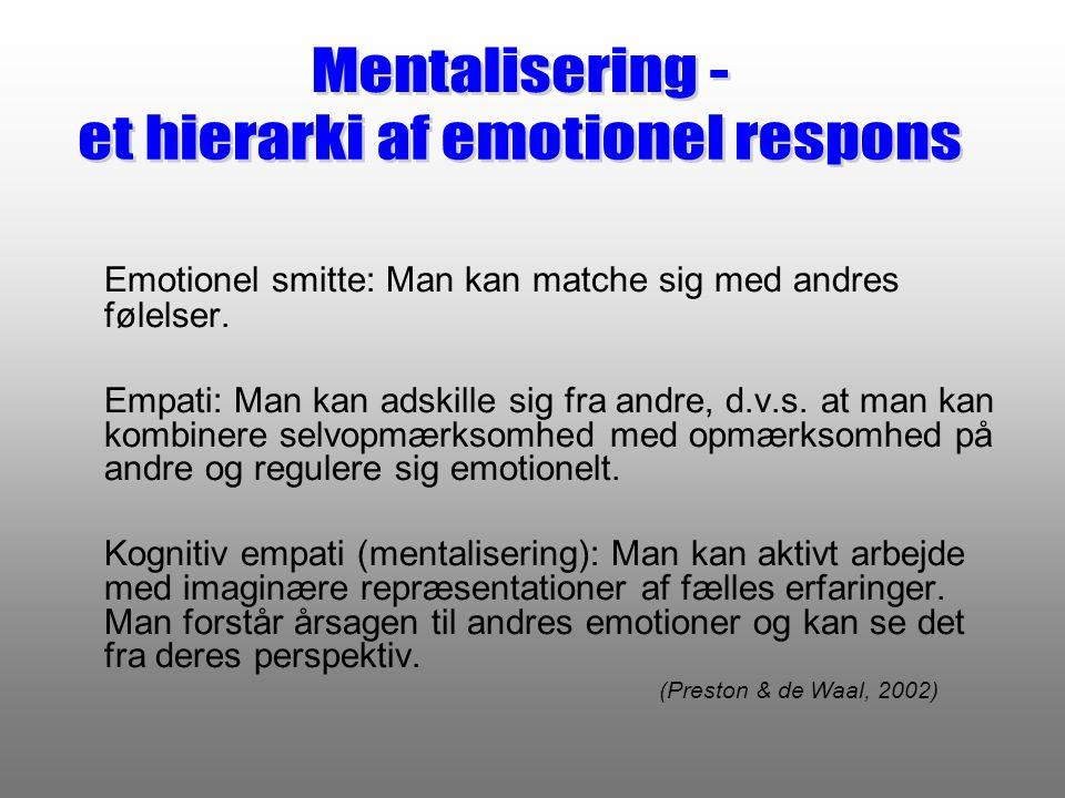 et hierarki af emotionel respons