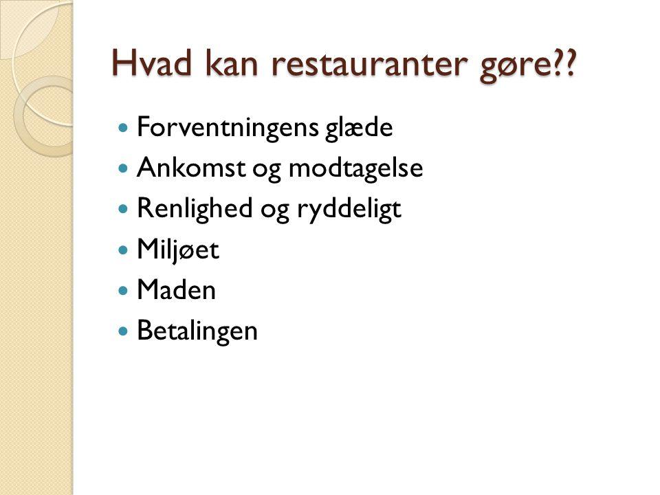 Hvad kan restauranter gøre