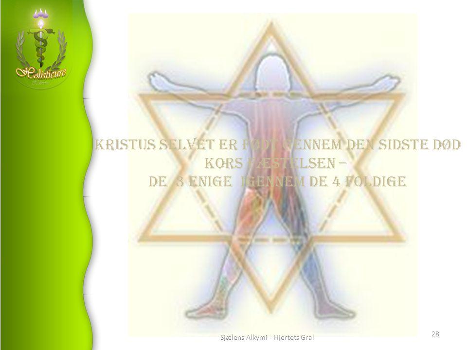 Kristus selvet er født gennem den sidste DØD Kors fæstelsen –