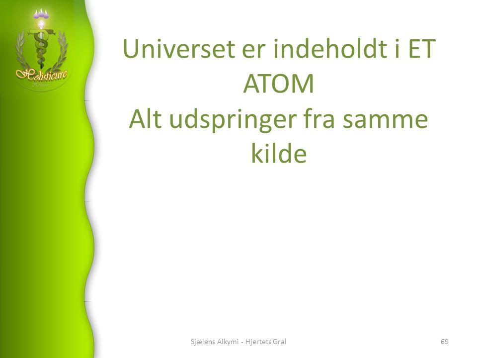 Universet er indeholdt i ET ATOM Alt udspringer fra samme kilde
