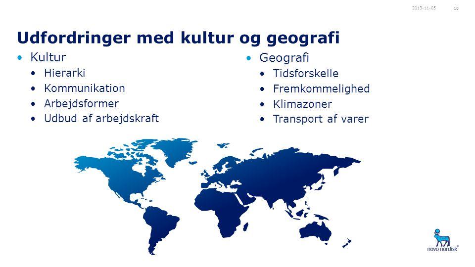 Udfordringer med kultur og geografi