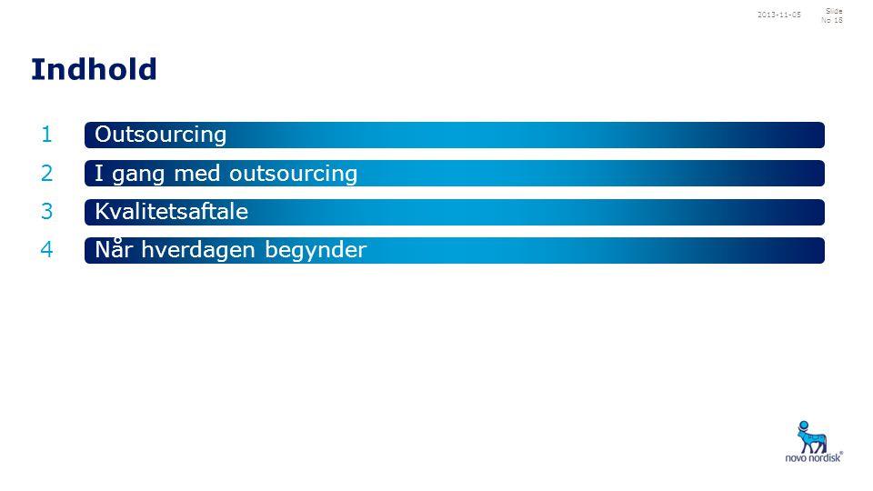 Indhold 1 2 4 3 Outsourcing Når hverdagen begynder Kvalitetsaftale