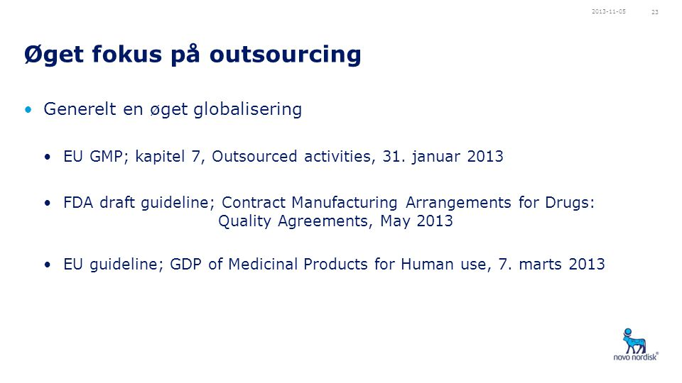 Øget fokus på outsourcing
