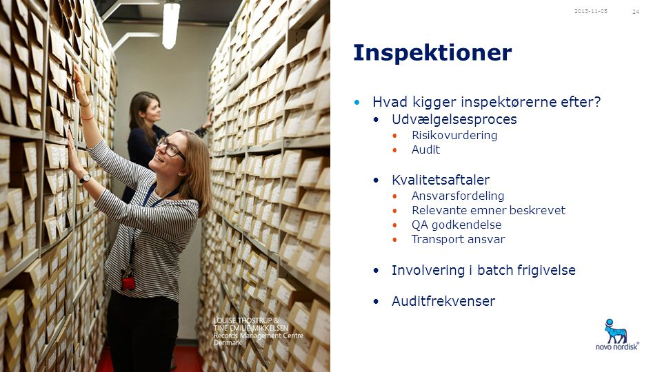 Inspektioner Hvad kigger inspektørerne efter Udvælgelsesproces
