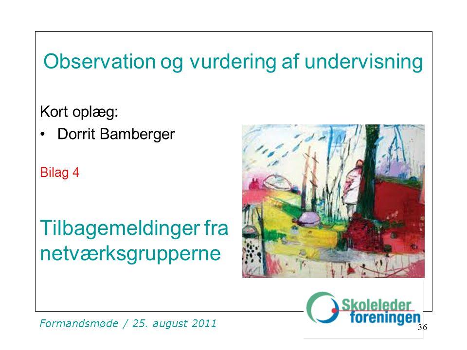 Observation og vurdering af undervisning