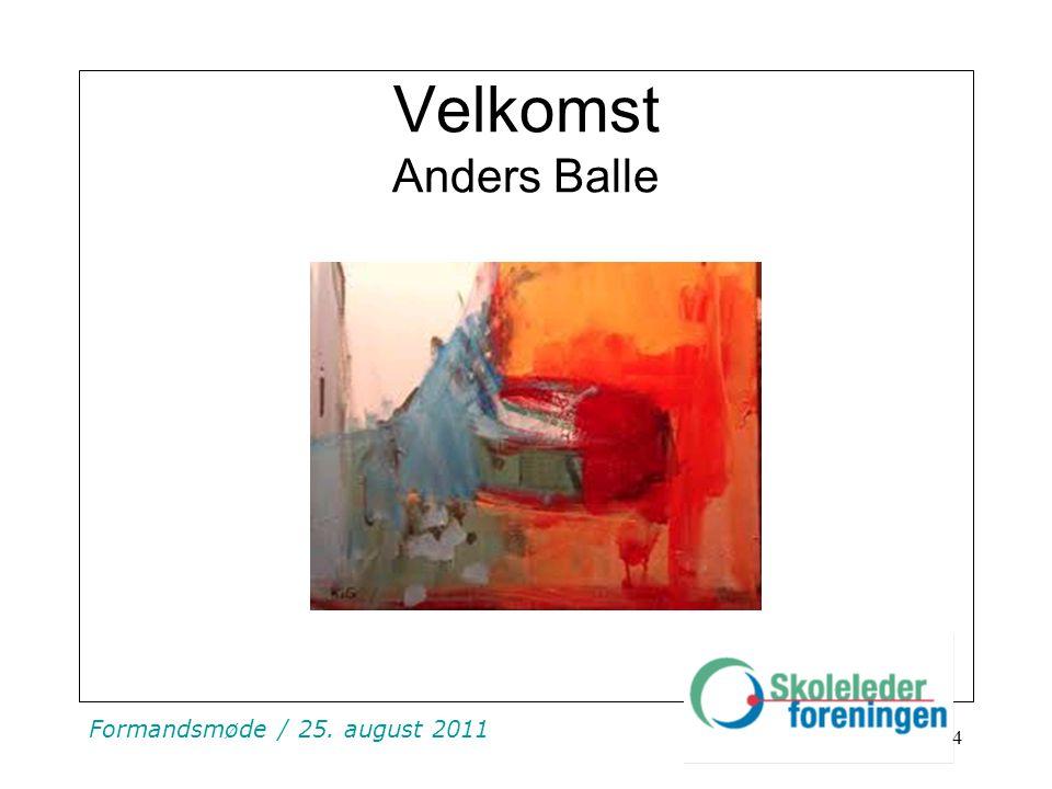 Velkomst Anders Balle