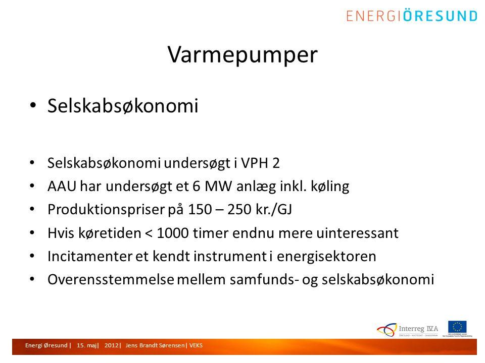 Varmepumper Selskabsøkonomi Selskabsøkonomi undersøgt i VPH 2