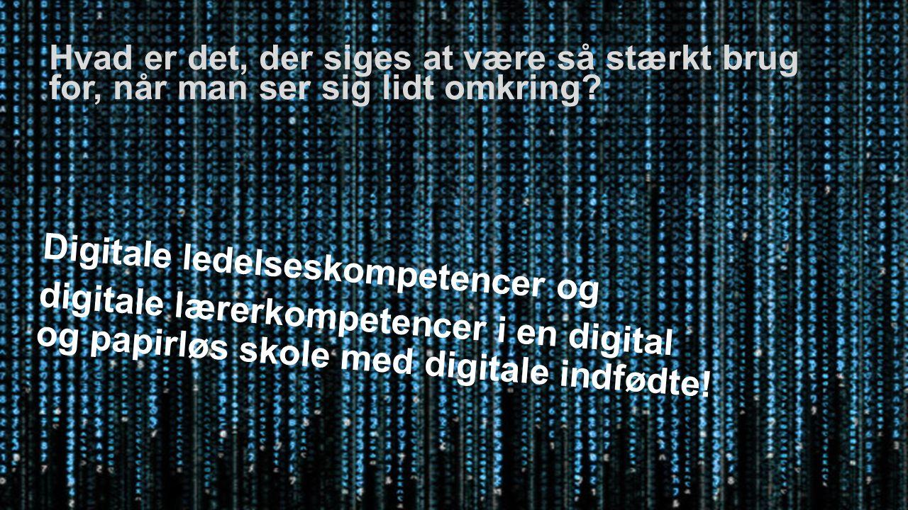 XXX Digitale ledelseskompetencer og