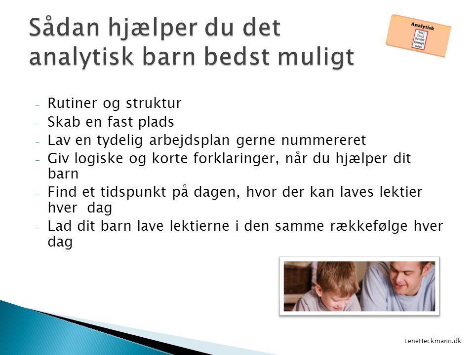 Sådan hjælper du det analytisk barn bedst muligt