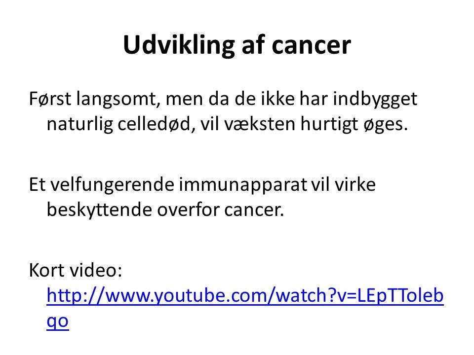 Udvikling af cancer