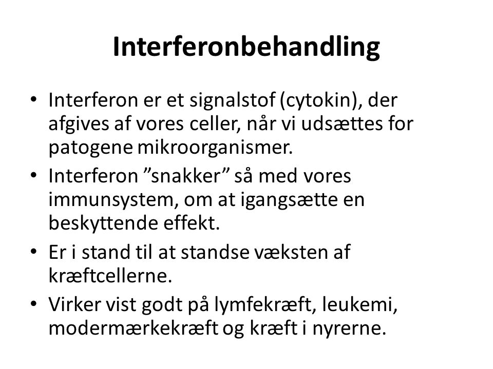Interferonbehandling