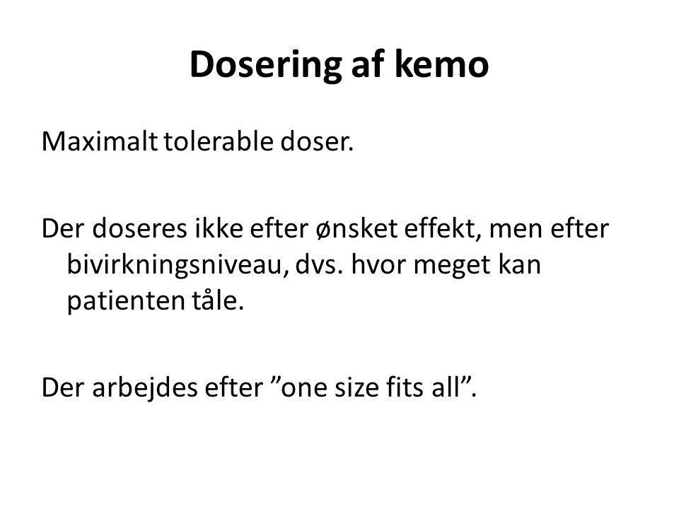 Dosering af kemo