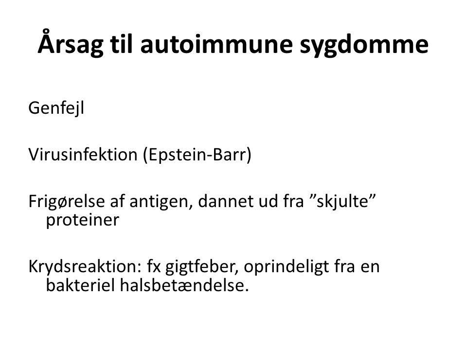 Årsag til autoimmune sygdomme