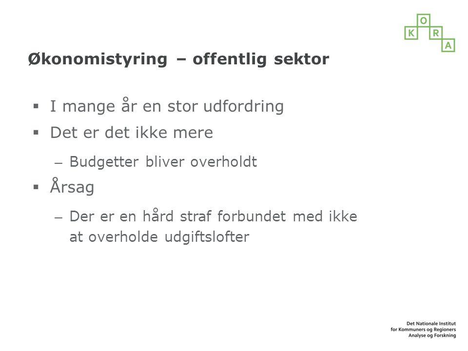 Økonomistyring – offentlig sektor