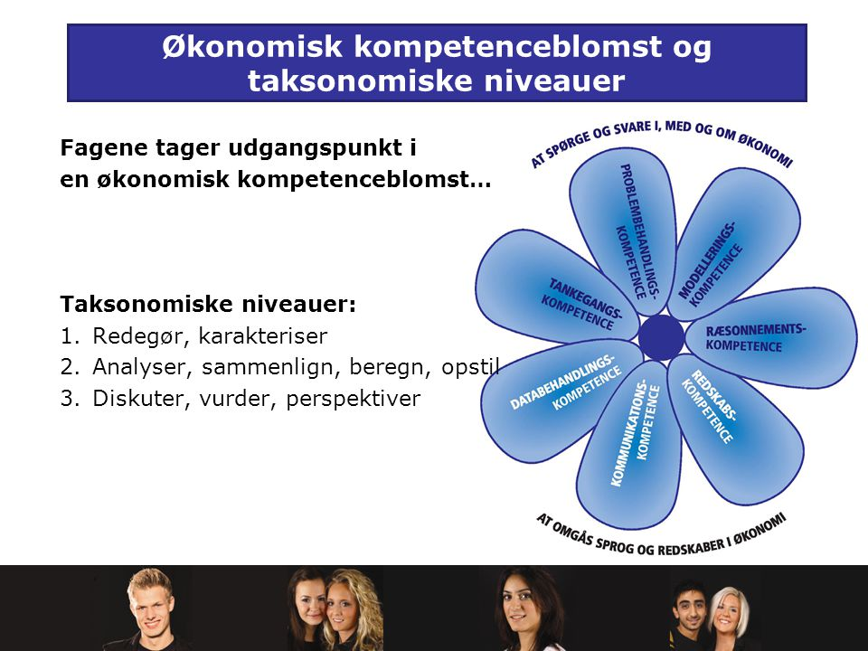 Økonomisk kompetenceblomst og taksonomiske niveauer