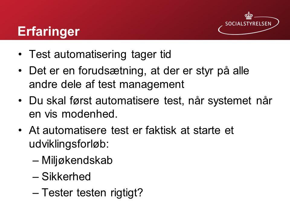 Erfaringer Test automatisering tager tid