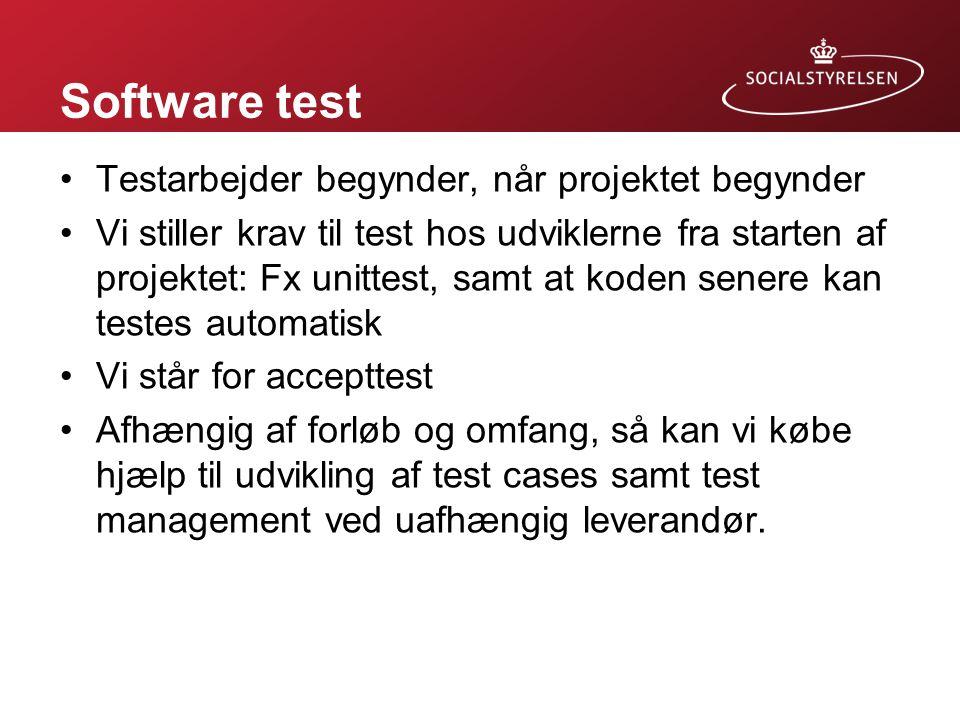 Software test Testarbejder begynder, når projektet begynder