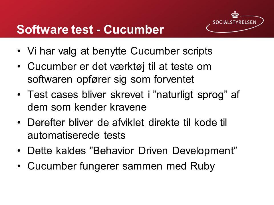 Software test - Cucumber