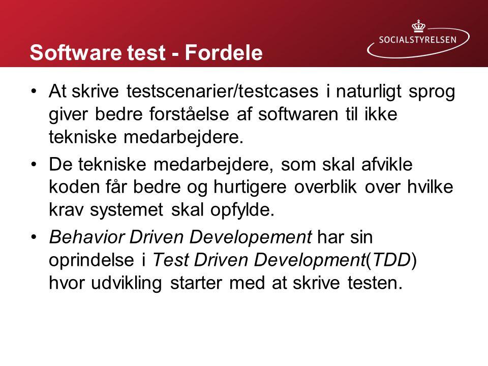 Software test - Fordele