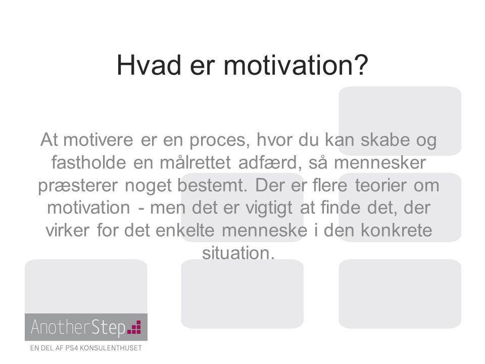 Hvad er motivation