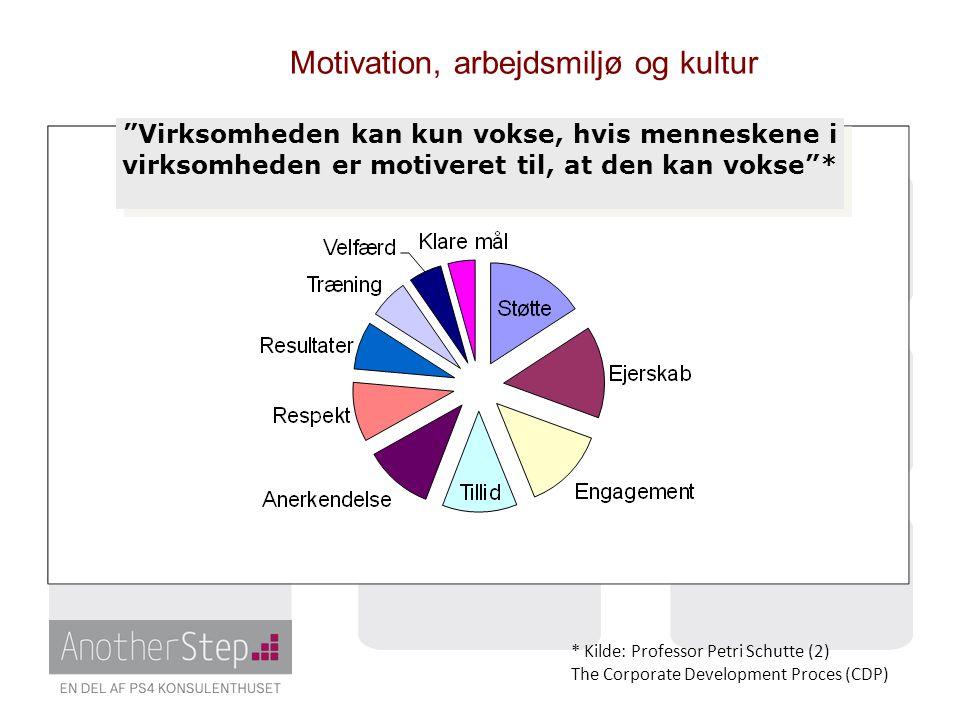 Motivation, arbejdsmiljø og kultur