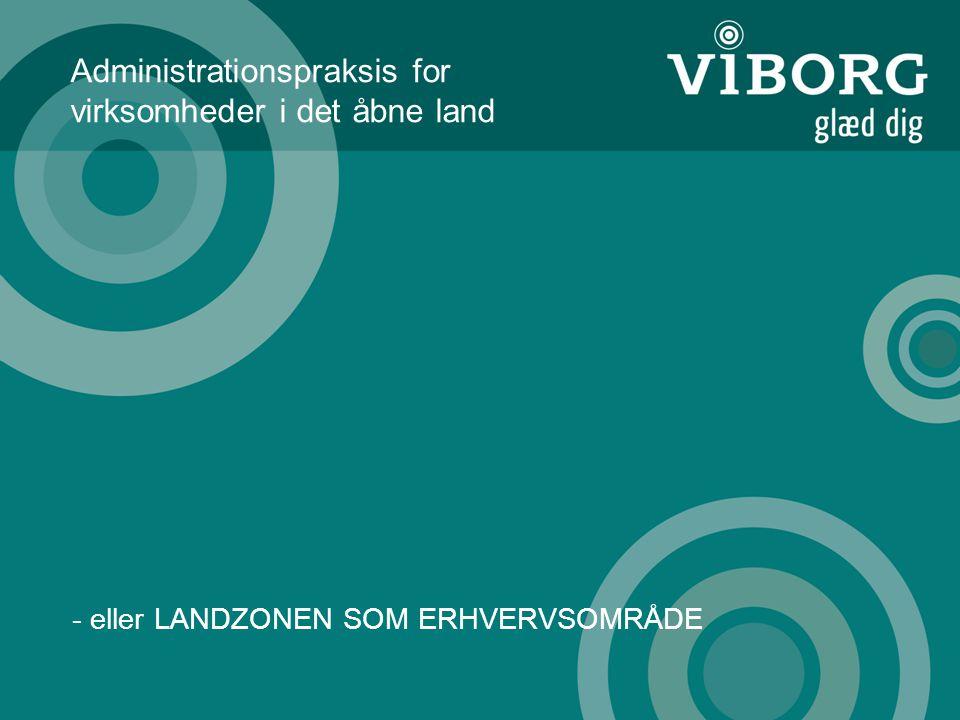 Administrationspraksis for virksomheder i det åbne land